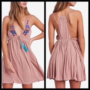 ⭐️ Free People Lovers Cove Embroidered Dress Mauve
